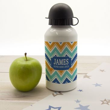 Boys Super Hero Juice Personalised Water Bottle